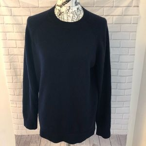 Theory crewneck cashmere navy blue sweater
